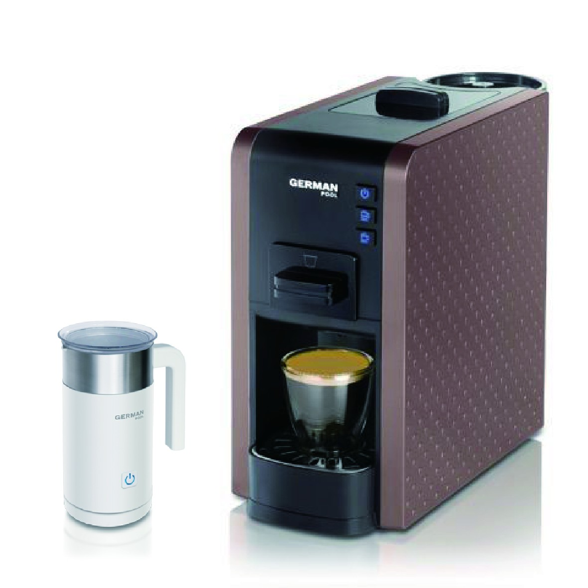 買咖啡豆送咖啡機優惠套餐 - German Pool 隨芯咖啡機(啡色) Plan B