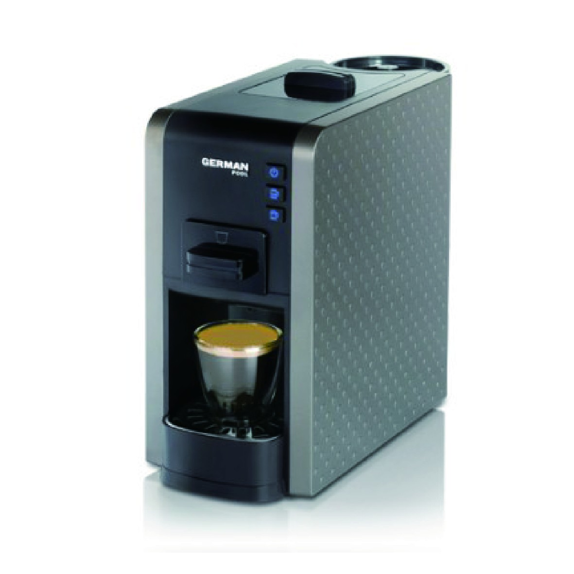 買咖啡豆送咖啡機優惠套餐 - German Pool 隨芯咖啡機(灰色) Plan A