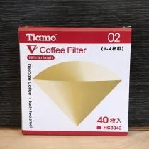 V02 濾紙無漂白 (咖啡色)(2-4人份)