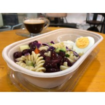 什菜雞蛋螺絲粉沙律 Vegetables & egg salad with fusilli